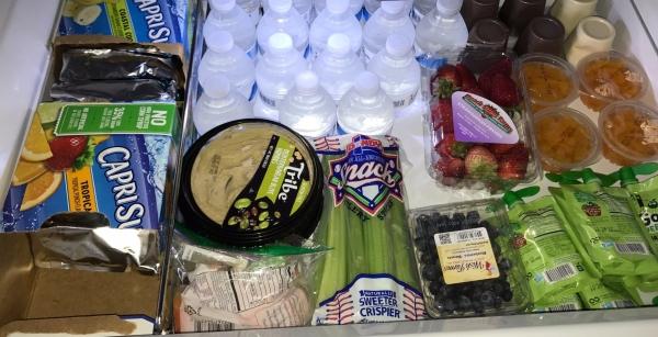 Snack draw in refrigerator
